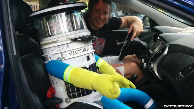 Hitchbot in action in Canada